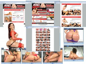 Members area screenshot from Big Wet Asses - click to enlarge