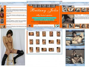 Members area screenshot from Britany Jolie - click to enlarge
