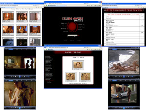 Members area screenshot from Celebs Movies Online - click to enlarge