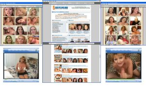 Members area screenshot from Cock Loving Moms - click to enlarge