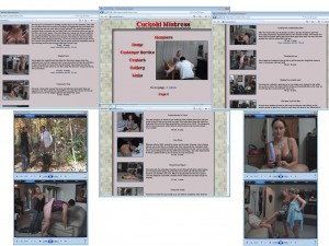 Members area screenshot from Cuckold Mistress - click to enlarge
