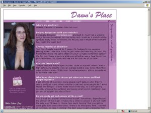 Members area screenshot from Dawns Place - click to enlarge