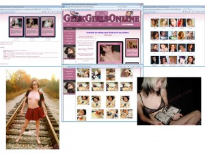 Members area screenshot from Geek Girls Online - click to enlarge