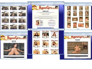 Members area screenshot from Hypnogirls - click to enlarge