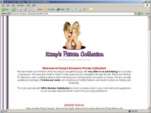 Members area screenshot from Karups Private Collection - click to enlarge