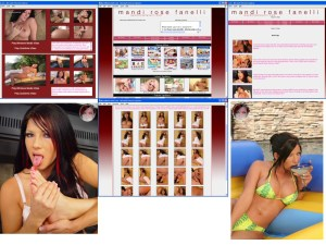 Members area screenshot from Mandi Rose Fanelli - click to enlarge
