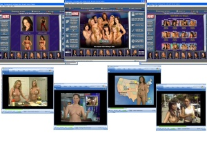 Members area screenshot from Naked News - click to enlarge