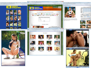 Members area screenshot from Naughty Athletics - click to enlarge