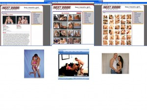 Members area screenshot from Next Door Hookups - click to enlarge