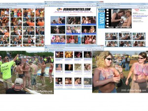 Members area screenshot from US Biker Parties - click to enlarge