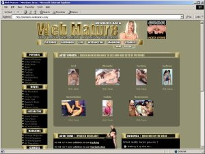 Members area screenshot from Web Mature - click to enlarge