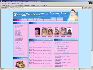 Members area screenshot from Young Amateurs - click to enlarge